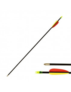 Archery Arrow 28 inches (73cm), fiberglass, black