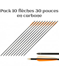Pack of 10 arrows 30 inches (76cm), carbon