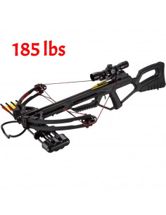Pack Crossbow 185 Pounds Black 53BK + Bezel 4x32 + Quiver + 4 Arrows