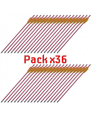 Pack of 36 Arrows 16 inches 8mm in...