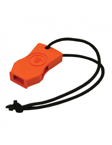 Orange floating survival whistle