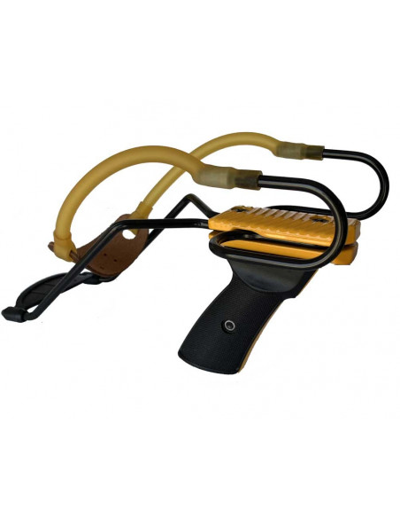 Yellow Metal Slingshot with Wrist Rest