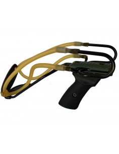 Slingshot Primo 2 Green Double elastic with wrist rest