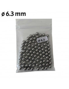 Bag of 100 steel balls diameter 6.3mm