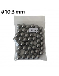 Bag of 45 balls Steel diameter 10.3mm