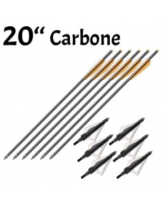 Pack of 6 carbon arrows 20...