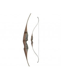 White Feather One Piece Fieldbow Lapwing Black 60 inches Recurve Bow