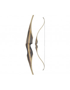 White Feather One Piece Fieldbow Cardinal Clear 60 inches Recurve Bow