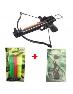 Pack Crossbow 50 lbs + 12 arrows plastic + string