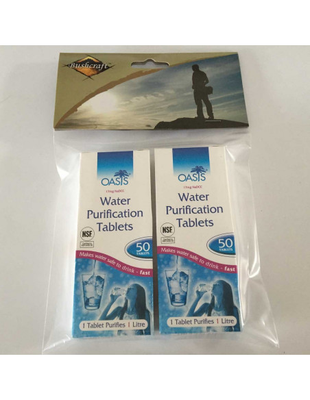 100 Water purification tablets