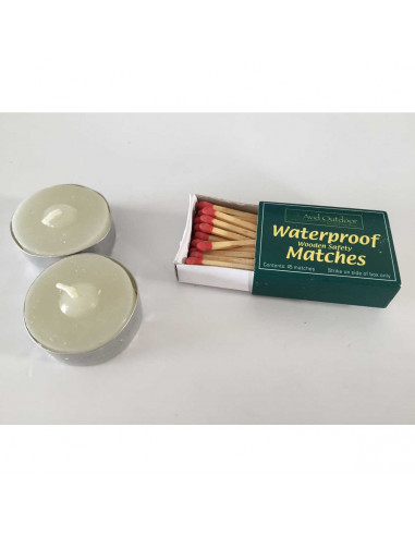 Candles + Waterproof matches