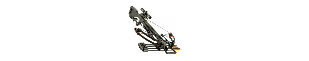 Large, powerful crossbows for hunting or recreation